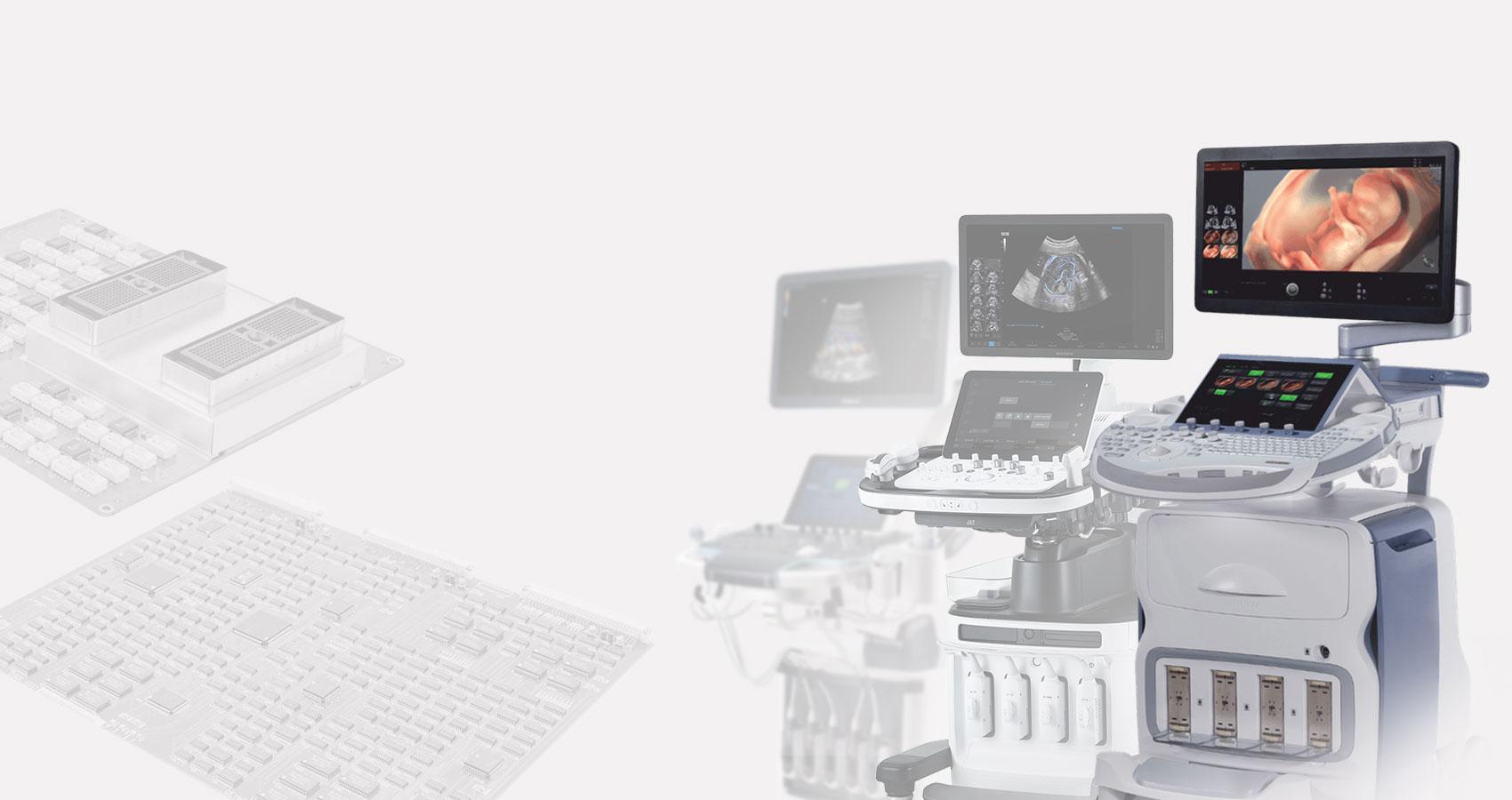 Ремонт электронных плат УЗИ аппарата на компонентном уровне